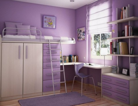 comfortable-purple-small-bedroom-ideas